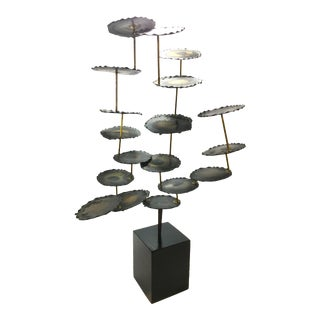 Vintage Brutalist Tower Sculpture For Sale