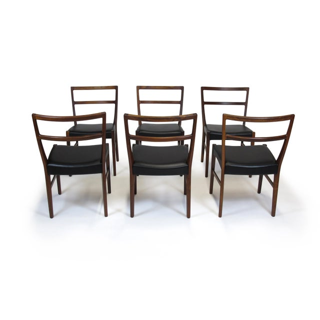 Johannes Andersen for Bernhard Pedersen & Sons Rosewood Dining Chairs - Set of 8 For Sale In San Francisco - Image 6 of 8