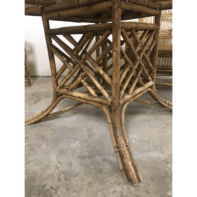 Tan Brighton Pavilion All-Cane Table Top Dining Set - 5 Pieces For Sale - Image 8 of 13
