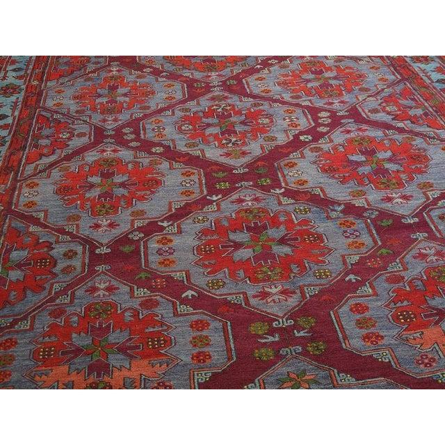 1950s Caucasian Sumak Carpet For Sale - Image 5 of 10