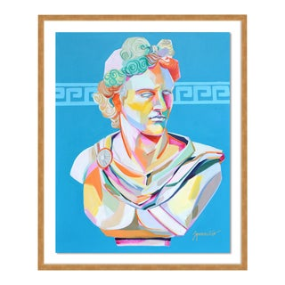 Greek Bust I by Jennifer Sparacino in Gold Framed Paper, Medium Art Print For Sale