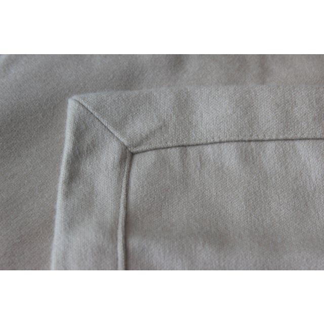 Contemporary Matouk Throw in Champagne For Sale - Image 3 of 5