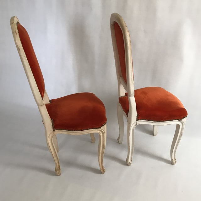 Boho Chic Lacquered Italian Hall Chairs - a Pair For Sale - Image 3 of 11