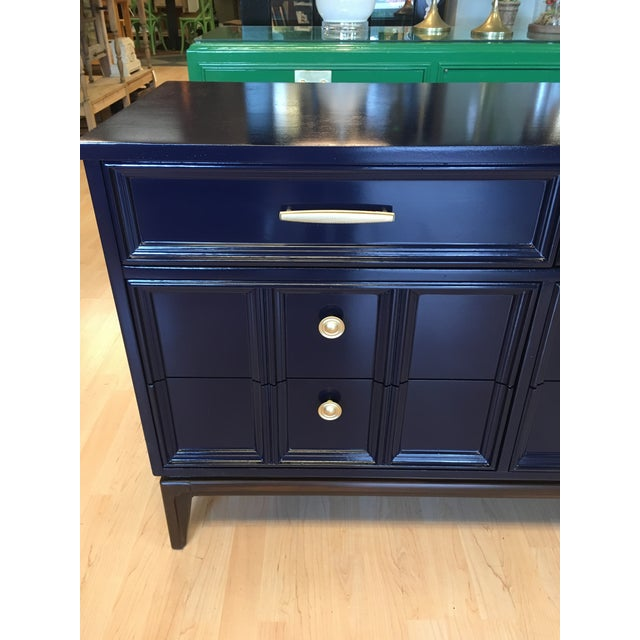 Mid-Century Modern Mid Century Modern Dixie Navy Blue Dresser For Sale - Image 3 of 8
