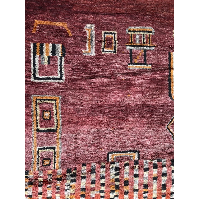 Islamic Pomegranate Tangier Moroccan Rug - 8′ × 10′ For Sale - Image 3 of 7