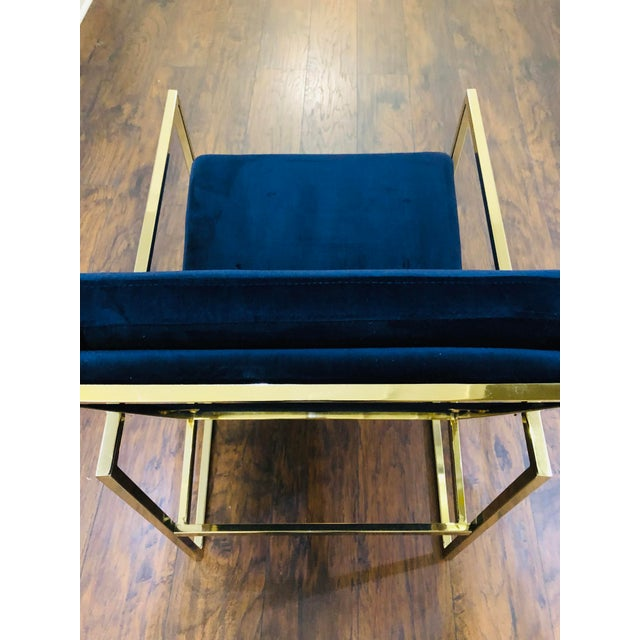 2000 - 2009 Vintage Mid Century Velvet Accent Chair For Sale - Image 5 of 9