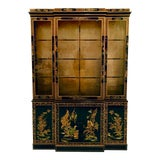 Image of 1960s Chinoiserie Lacquered China Cabinet by Drexel For Sale