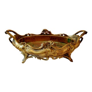 Large Solid Brass Urli Bowl For Sale