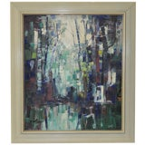 Image of Mid Modern Abstract Painting C.1960's For Sale