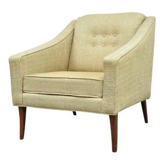 Vintage Richardson Nemschoff Mid Century Danish Modern Lounge Club Chair Walnut For Sale