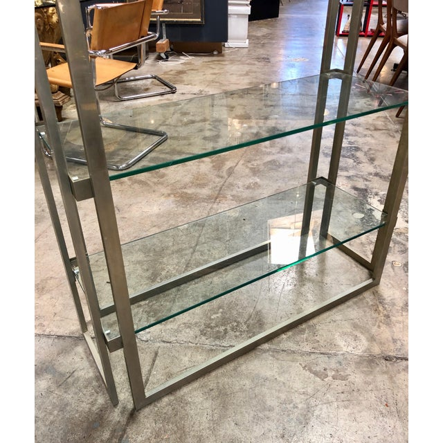 Willy Rizzo Vintage Chrome Bookcase, Italy, 1970s For Sale In Los Angeles - Image 6 of 8