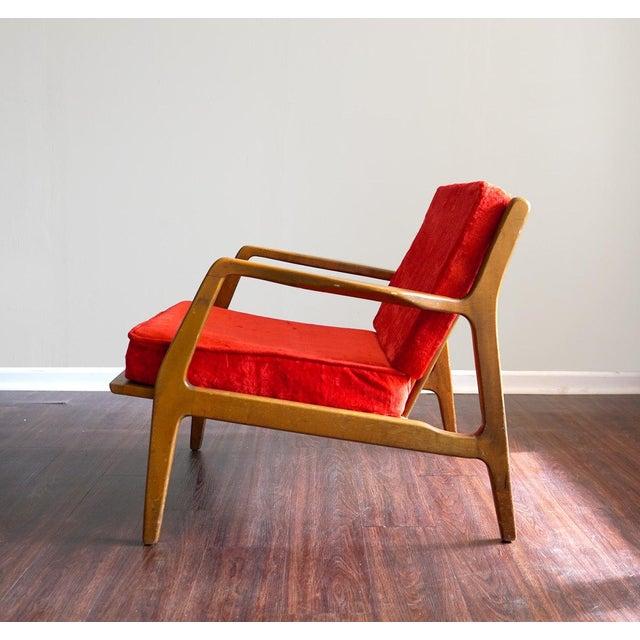 Ib Kofod Larsen Style Mid-Century Danish Modern Lounge Chair - Image 2 of 6
