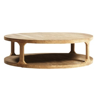 Reclaimed Elm Wood Coffee Table For Sale
