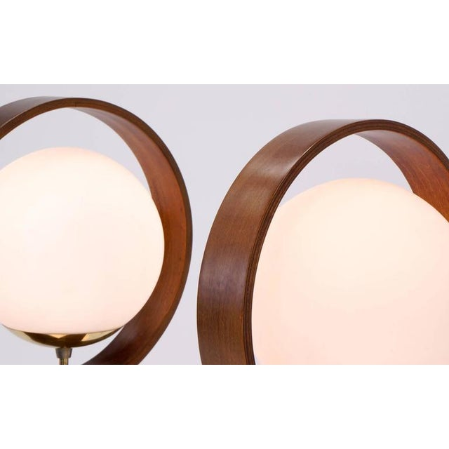 Large Pair of Danish Modern Three-Globe Table Lamps For Sale - Image 4 of 7