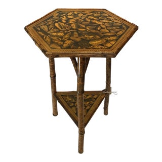19th Century English Bamboo Table For Sale