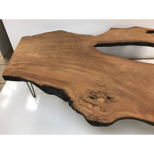 Large Organic Teak Live Edge Coffee Table - Image 2 of 7