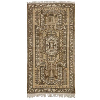 Late 20th Century Vintage Sevan Kazak Rug - 3′4″ × 6′3″ For Sale
