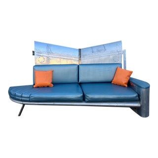 Vintage Industrial Recycled Aircraft Wing Sofa For Sale