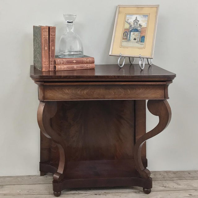 Louis XV 19th Century French Louis Philippe Console For Sale - Image 3 of 12