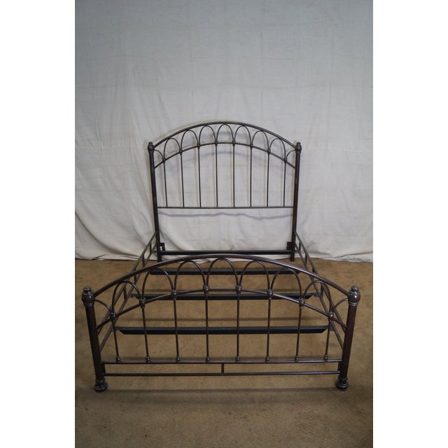 Victorian Style Iron Queen Size Bed - Image 8 of 10