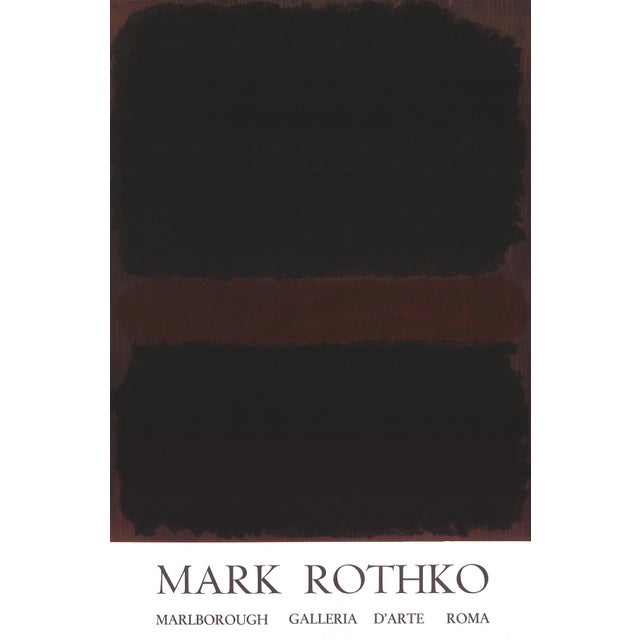 1970s 1970 Mark Rothko 'Marlborough Galleria d'Arte Roma' Abstract Black,Brown Lithograph For Sale - Image 5 of 5