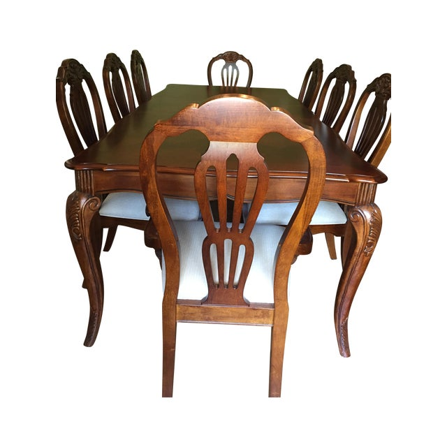 Cherry Wood Dining Room Table - Image 1 of 11
