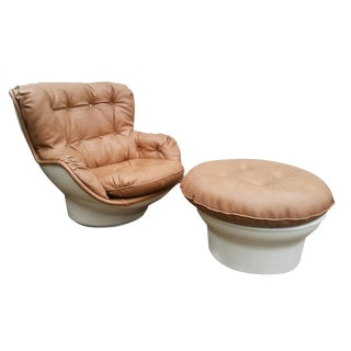 Michel Cadestin Karate Lounge Chair with Ottoman for Airborne Intl.