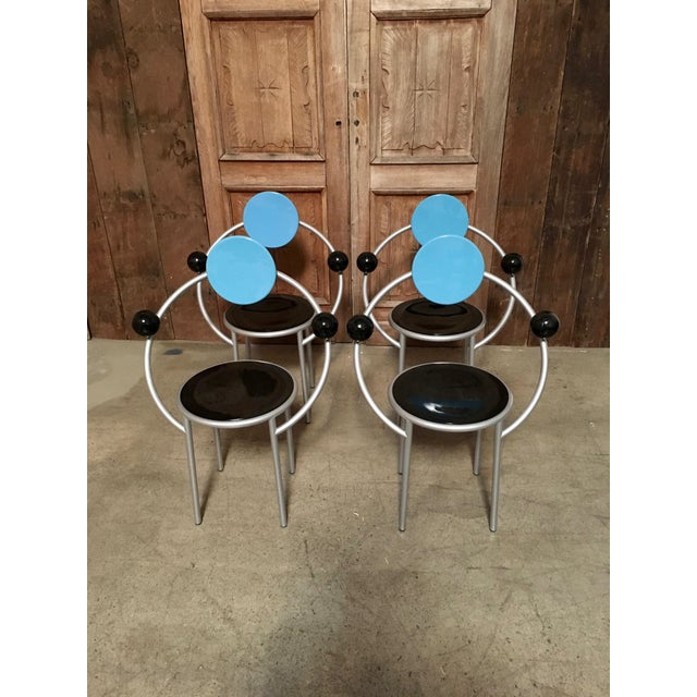"""""""First Chair"""" Michele De Lucchi for Memphis Chair For Sale In Los Angeles - Image 6 of 7"""
