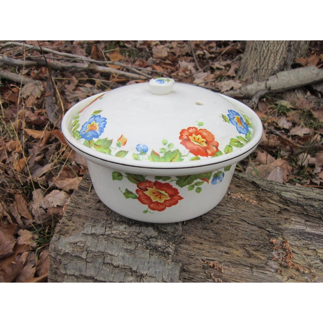 Columbia Chinaware Harker Floral Baking Casserole Dish / Canister For Sale - Image 10 of 10