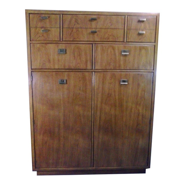 1970s Campaign Drexel Heritage Consensus Armoire For Sale