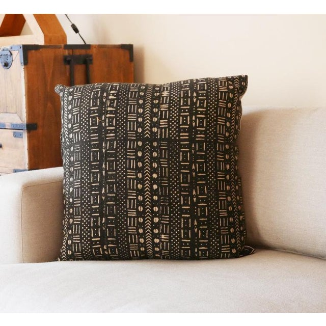 African Mudcloth Pillow For Sale - Image 4 of 5