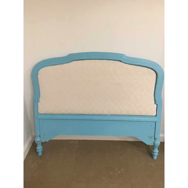 Upholstered Tourquoise Twin Headboard - Image 2 of 3