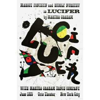(after) Joan Miró Lucifer, 1975 Martha Graham Dance Company Exhibition Poster 1975 For Sale
