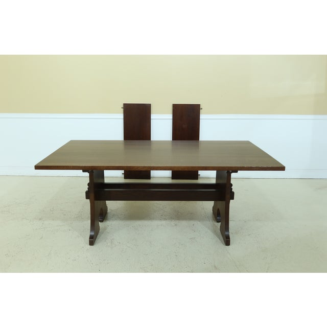 Stickley Mission Oak Mousehole Dining Room Table For Sale - Image 13 of 13