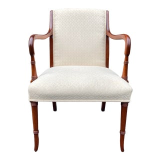 Statesville Chair Co. Mahogany Armchair For Sale