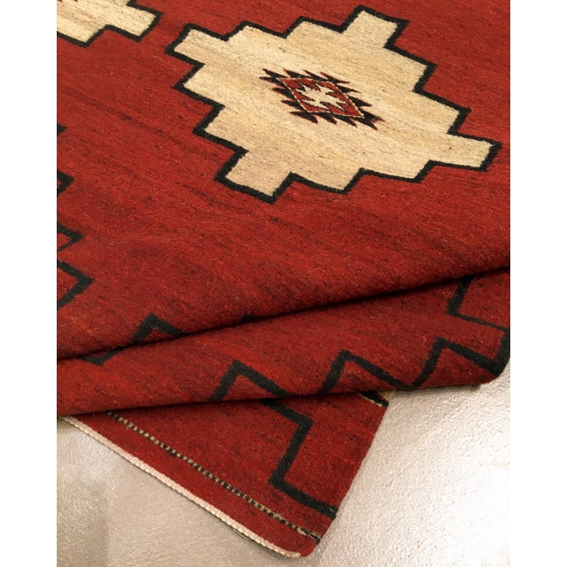 """Navajo Inspired Rug-4' X 6'1"""" For Sale - Image 4 of 6"""