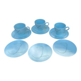 "Russel Wright for Knowles ""Grass"" Dishes- Set of 9 For Sale"