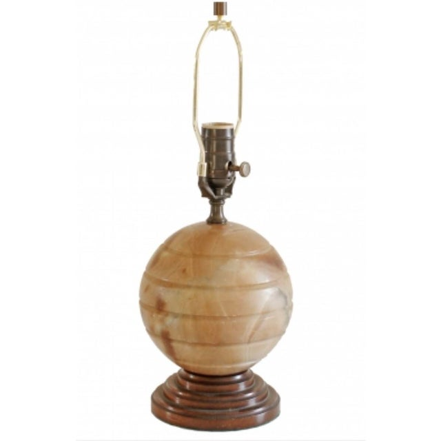 Traditional 1930s Vintage Agate Table Lamp For Sale - Image 3 of 5
