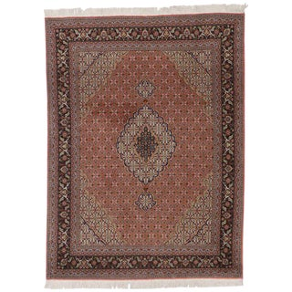 Vintage Persian Tabriz Rug with Mahi Design and Traditional Style