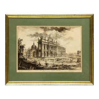 Views of Rome, Basilica St John Lateran Framed Etching by Piranesi For Sale