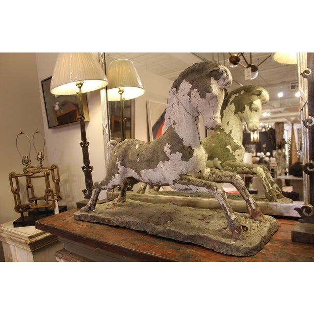 Large garden horse made in 1970. Paint is worn and adds an antique touch, but could easily be restored to its original...