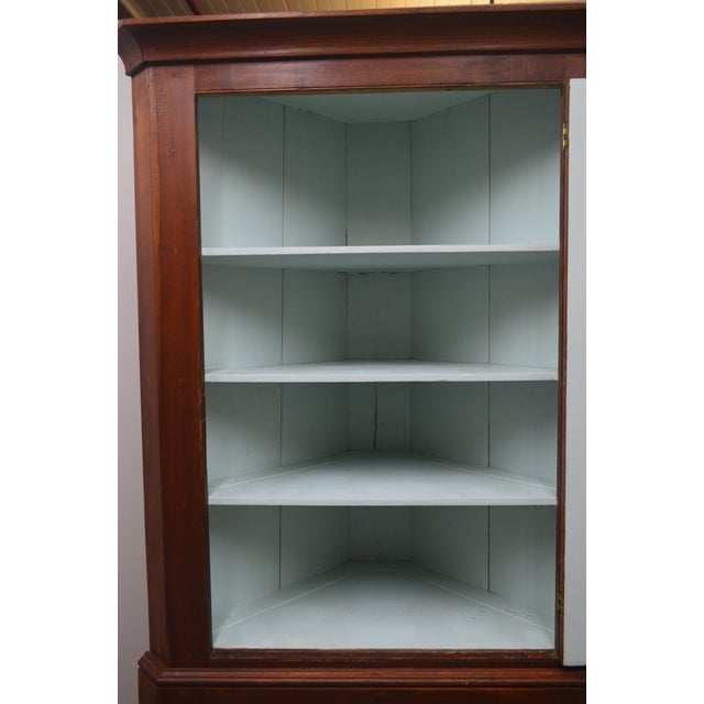 Wood 19th Century Antique Pine China Cabinet For Sale - Image 7 of 12