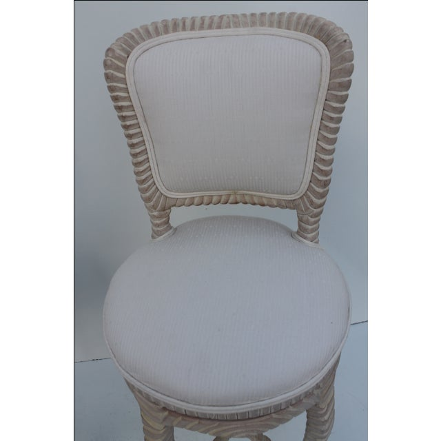 Italian Carved Rope & Tassel Bar Stools -- A Pair - Image 10 of 11