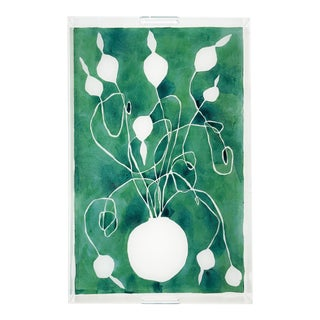 Celadon Orchid by Kate Roebuck, Tray For Sale