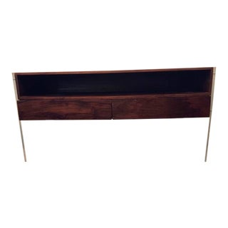 Modern Walnut & Lucite Media Stand/Credenza For Sale