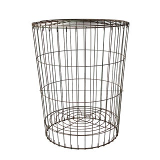 Early 20th Century Antique Metal Storage Basket For Sale