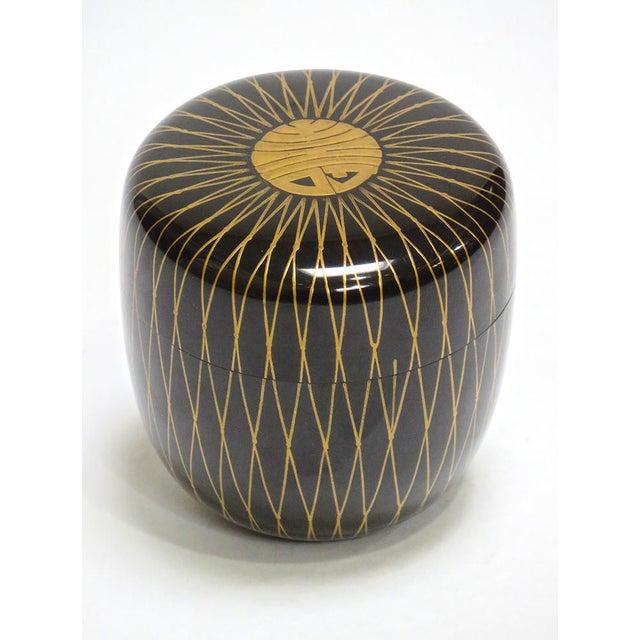 Art Deco Natsume Lacquer Tea Vessel For Sale - Image 3 of 3
