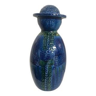 """Bitossi Style """"Father"""" Figure in Rimini Blue For Sale"""