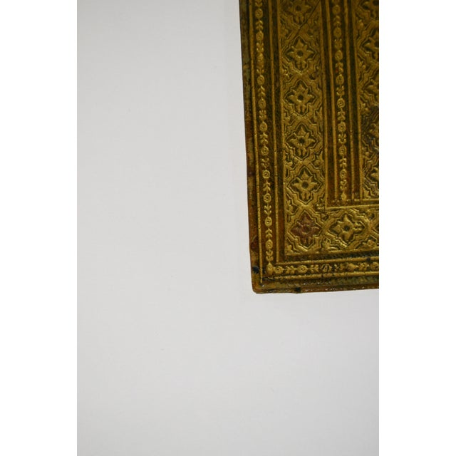 Early 20th Century Antique Green Leather Portfolio For Sale - Image 4 of 6