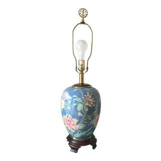 Ethan Allen Floral Lamp For Sale